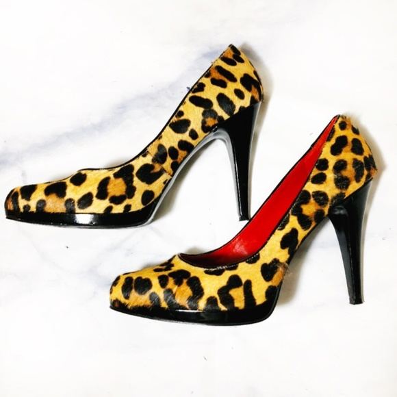 86ef266775 Nine West Shoes | Leopard Print Calf Hair Leather Pumps | Poshmark